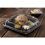 UltraStack Square Platter with Clear Low Dome Lid - 10.7 in.