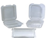 3 Compartment Plate Lunch Clamshell Polypropylene Black and Clear - 9 in. x 9 in. x 2.3 in.