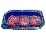2 Compartment Ovenable Entree Cpet Black - 12 in. x 7 in.