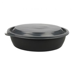 Clear Dome Lid for 18, 24, 32 oz. Medium Round Bowls and Containers