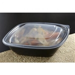 Small Square Container Black - 16 Oz.