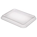 Clear PET Lid for 12, 16, 22, 25 oz. Small Rectangle Trays