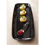 Mozaïk Rectangle Platter Black - 6.5 in. x 17.5 in.