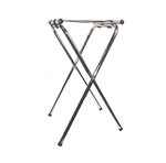 Chrome Tray Stand with Bar - 31 in.