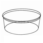Round Clear Plastic Tub - 64 Oz.
