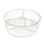3 Compartment Clear Container Pet Plastic - 96 Oz.
