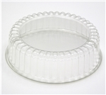 Clear Rpet Fluted Dome Lid With Spike For 8 in. Cake - 9.75 in. x 3.88 in.