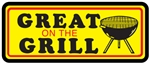 Yellow and Red Black Great On The Grill Label