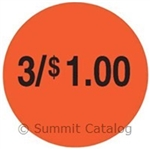 Price Circle Labels Day-Glo Red - 1.5 in.