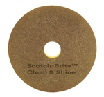 Scotch-Brite Clean and Shine Pad Polyester Yellow and Gold - 16 in.