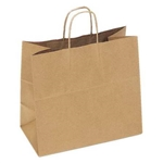 Shopping Bag with Twist Handle Paper Natural Kraft - 13 in. x 7 in. x 13 in.