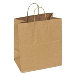 Shopping Bag with Handle #63 Paper Natural Kraft - 14.5 in. x 9 in. x 16.25 in.