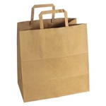 Shopping Bag with Handle Paper Natural Kraft - 12 in. x 7 in. x 12 in.
