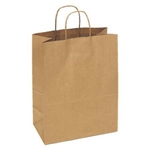 Shopping Bag with Handle Paper Natural Kraft - 13 in. x 7 in. x 17 in.