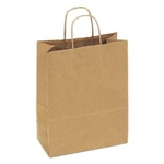 Shopping Bag with Handle Paper Natural Kraft - 10 in. x 5 in. x 13 in.