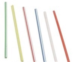 Jumbo Unwrapped Straw White and Blue - 8.5 in.