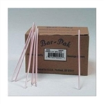 Giant Straw Red and White Paper Wrapped - 7.75 in.