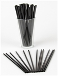 Jumbo Straw Black Paper Wrapped - 7.75 in.