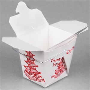 8 oz Wired Handled Chinese Take Out Containers