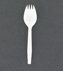 White medium weight plastic Sporks