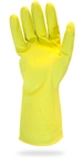 Yellow Flocked Lined Latex Glove Large