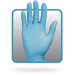 Powder Free Blue Nitrile Gloves 6 Mil Medium Size