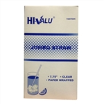 Hi-Valu Jumbo Paper Wrapped Clear Straw - 7.75 in.