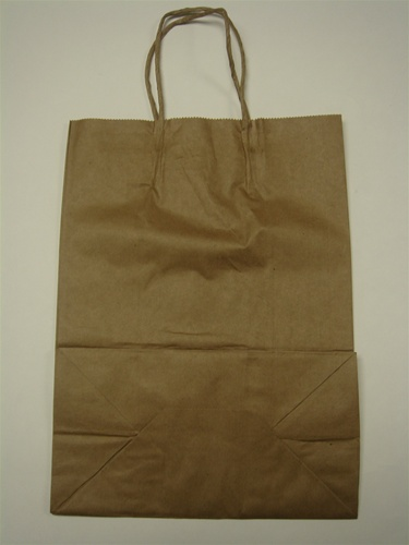 Large Brown Paper Bag With Twisted Handle 250 Ct Round