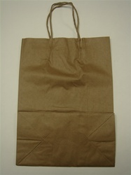 250ct Brown Paper Bag Hvy Duty with Handle (Large)
