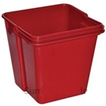 Red Polypropylene Top Tray Container - 4 in.
