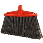 Angled Broom Red with Black Flagged Bristles - 13 in.