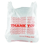 White and Red Thank You T-Sack - 11.5 in. x 6.5 in. x 21 in.