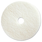 White Polishing Pad Low Speed Floor Pad - 20 in.