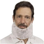 Elastic Band Beard Guard White - 18 in.