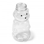 Honey Bear Bottle Pet Clear With White Flip Lid - 12 Oz.