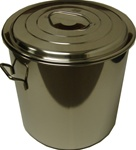 Stainless Steel Stock Pot w/Cover 35 Inch