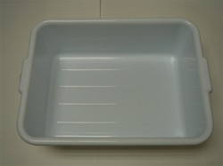 White Bus Tray 20 X 15 X 7 Inch