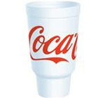 Dart Coca-Cola Stock Print Cups 32 oz