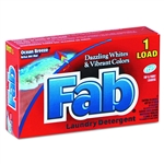 Fab Ocean Fresh Laundry Detergtent Powder One Load Box