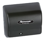Advantage AD Series Steel Cover Black Graphite Hand Dryer - 5.63 in. x 10.13 in.
