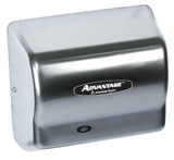 Advantage AD Series Steel Cover Satin Chrome Finish Hand Dryer - 5.63 in. x 10.13 in.