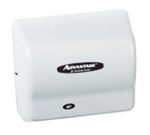 Advantage AD Series White Epoxy Finish Steel Cover Automatic Hair Dryer - 5.63 in.