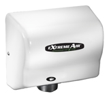 Extremeair EXT Series White Epoxy Finish Steel Cover Hand Dryer - 5.63 in. x 10.13 in.