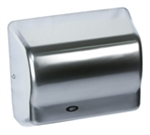 Global GX Series Steel Cover with Satin Chrome Finish 120V Automatic Hand Dryer