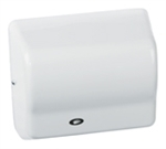Global GX Series Steel Cover with White Epoxy Finish 120V Automatic Hand Dryer