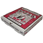 Redbrick White and Kraft Corrugated B-Flute Pizza Box - 12 in. x 12 in. x 2 in.