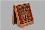 Redbrick White and Kraft Corrugated B-Flute Pizza Box - 10 in.