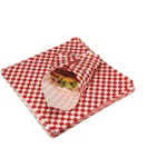 Marcal Wax White and Red Check 12 in. W x 12 in. L Food Prep Deli Tissues