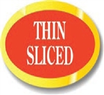 Thin Sliced Oval Cuts Continued Label - 0.843 in. x 1.9 in.