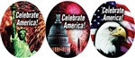Celebrate America Holiday Label - 2 in.